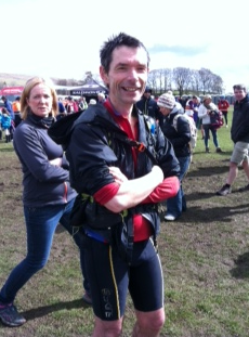 Dave at finish of Y3P Photo: J Brockbank
