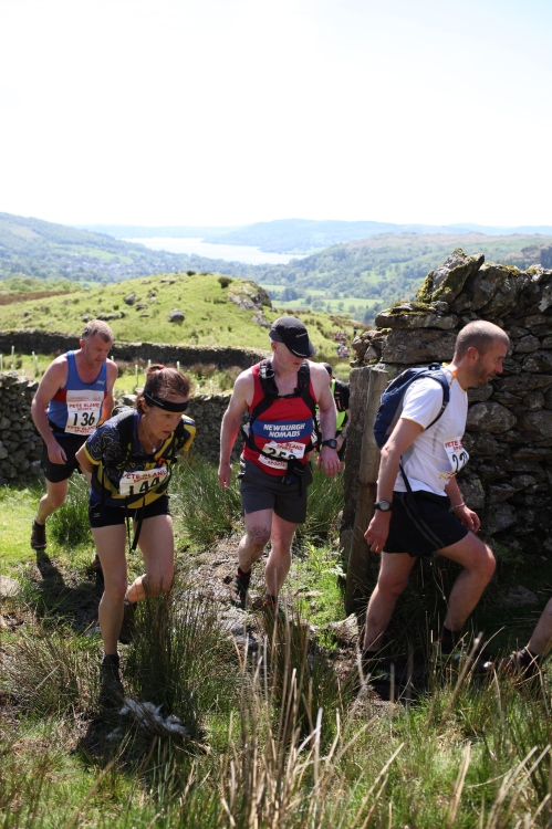 1km after the Start, on the way up to Heron Pike. Photo purchased from Atheletesinaction.co.uk
