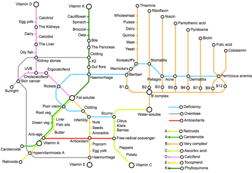 The Vitamin Tube Map © Sally Chaffey 2015