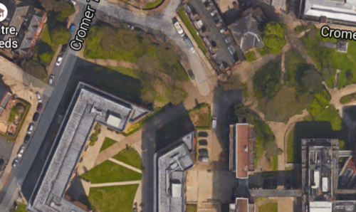 Google Earth of the part of the map shown on the cake - the campus is now embargoed for JK competitors as prior knowledge would compromise fairness