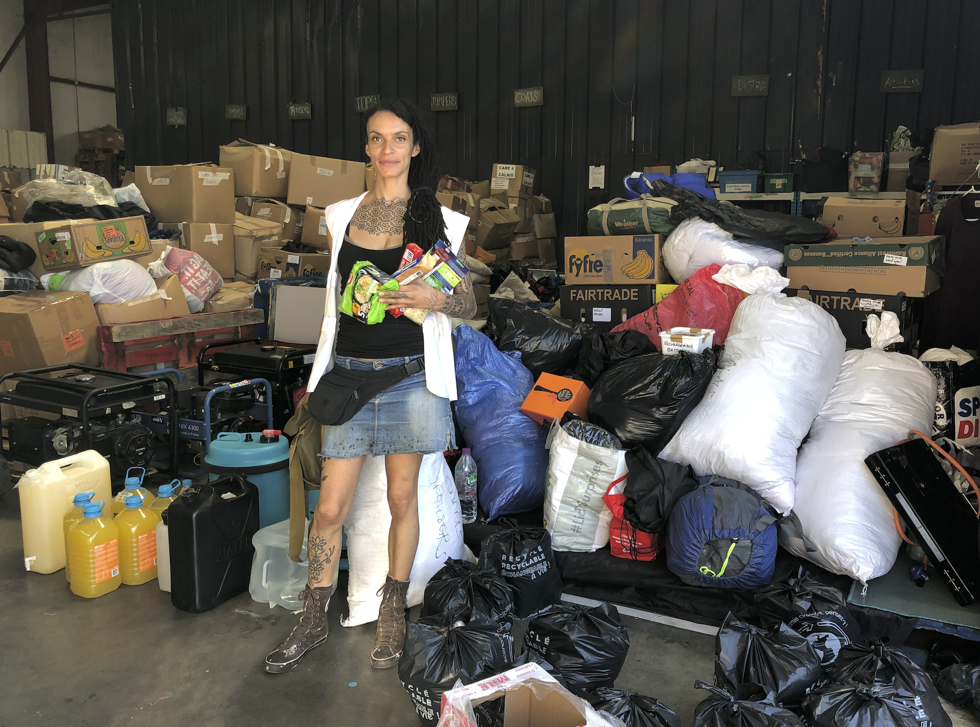 Jen at warehouse